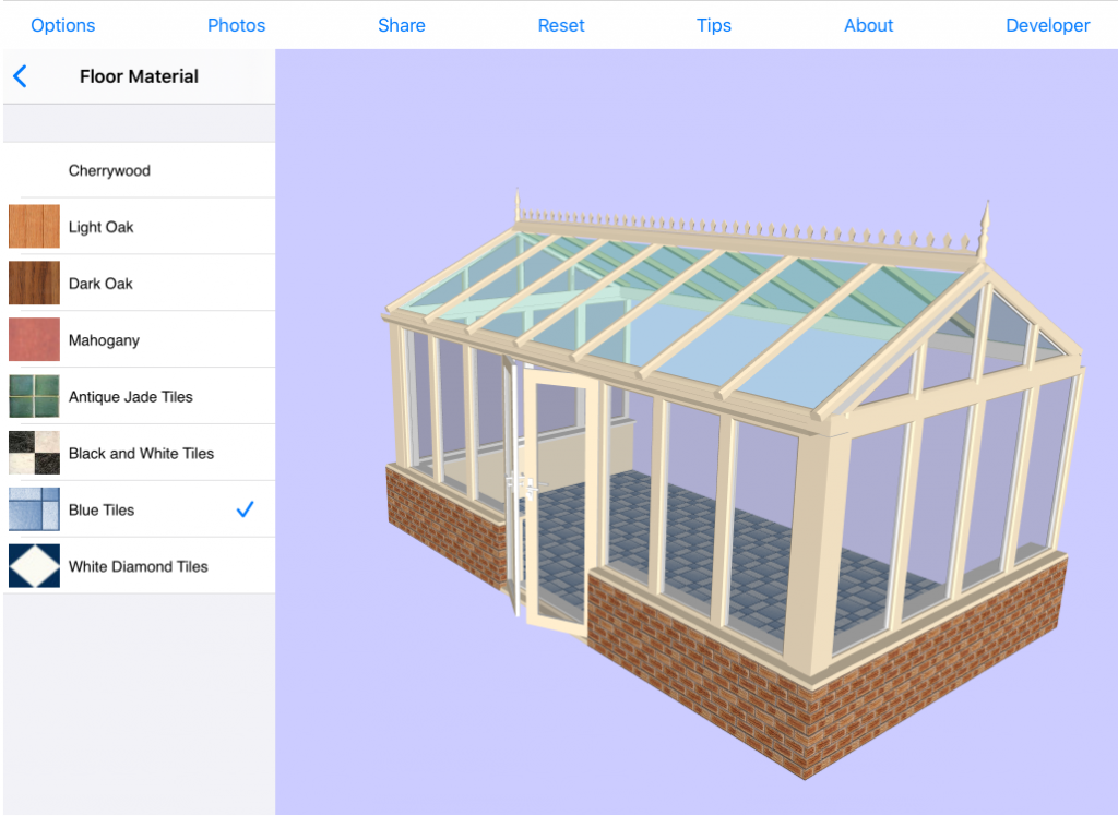 RoofWright Conservatory Design App